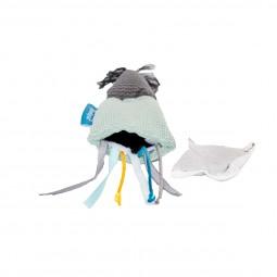 ZooRoyal Maus mit Bändern & Katzenminze Petrol