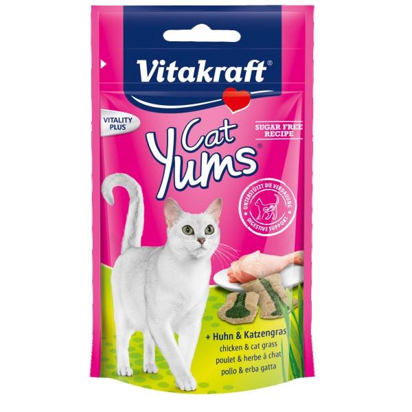 Vitakraft Cat Yums Huhn & Katzengras 40g