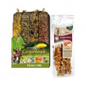 Knabberhölzer + Grainless Farmys Probierpaket