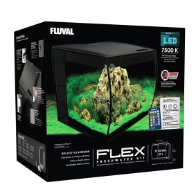 Fluval Aquarium Flex Set 57 L schwarz