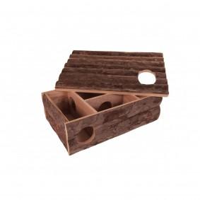 Leif - Espace de jeu et abri pour hamsters 35 x 25 x 11,5 cm