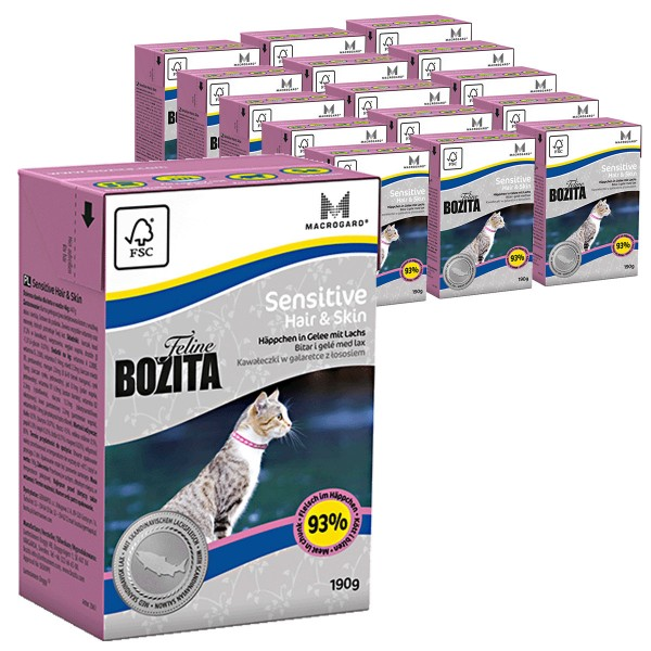 Bozita Feline Funktion Sensitive Hair & Skin 16x190g