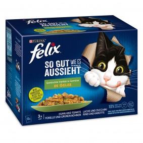 Felix So gut wie es aussieht in Gelee Gemischte Vielfalt mit Gemüse 12x85g