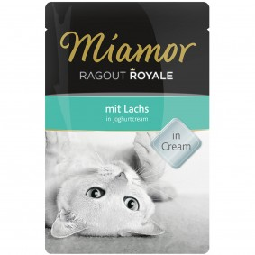 Miamor Ragout Royale Lachs in Joghurtcream 100g Frischebeutel