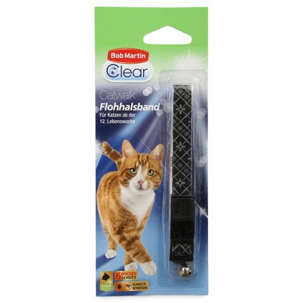 Bob Martin Clear Catwalk reflektierendes Flohhalsband für Katzen