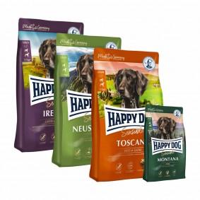 Happy Dog Supreme Sensible Probierpaket Länderreise 3x1kg + 300g Sensible Montana gratis