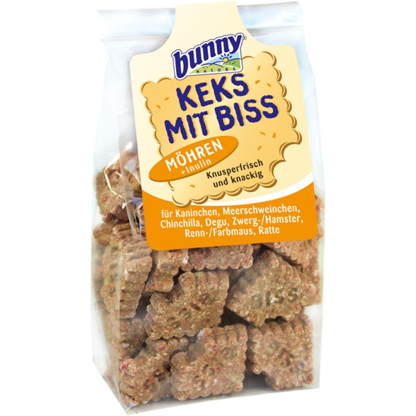 Haustier Angebot: Bunny Keks mit Biss für Kleintiere 50g – Möhre