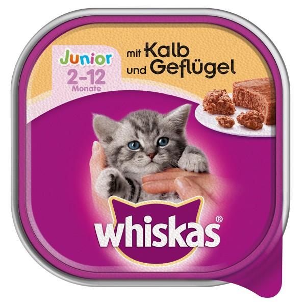 Whiskas Junior mit Kalb und Geflügel 32x100g