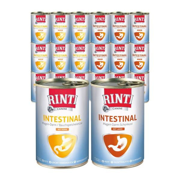 Rinti Hunde-Nassfutter Canine Intestinal Mixpaket Huhn & Lamm 24x400g