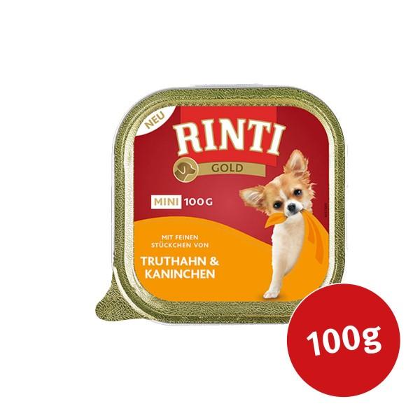 Rinti Hunde-Nassfutter Gold Mini Truthahn & Kaninchen