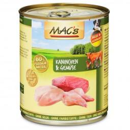 MAC's Dog Hunde-Nassfutter Kaninchen und Gemüse