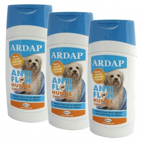 Ardap Anti-Floh Hundeshampoo Ungezieferbekämpfung 3x250ml