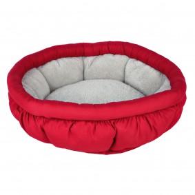 Jollypaw Bett Jasper rund ø 45 cm, rot/grau