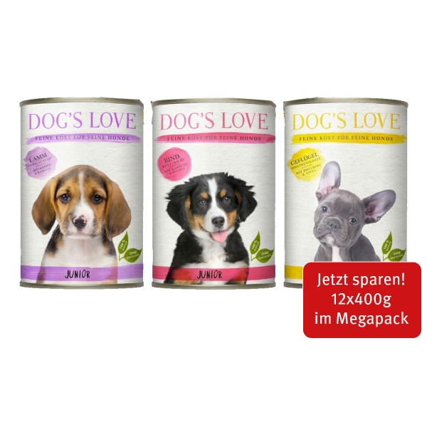 Dog's Love Junior Mischpaket 12x400g