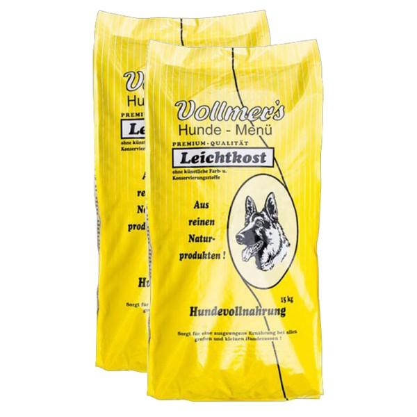 Vollmers Hundefutter 2x15kg verschiedene Sorten - Leichtkost