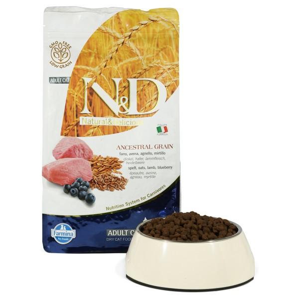N&D Katzenfutter Adult getreidearm Lamm und Heidelbeere