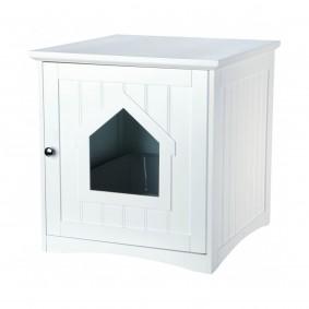 Trixie Katzenhaus für Katzentoilette 49×51×51cm weiß