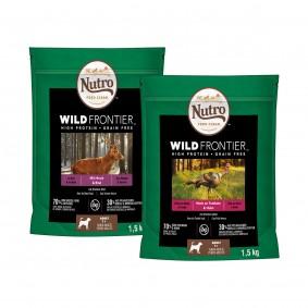 Nutro Adult Wild Frontier Trockenfutter Hirsch/Rind und Truthahn/Huhn Probierpaket 2x1,5kg