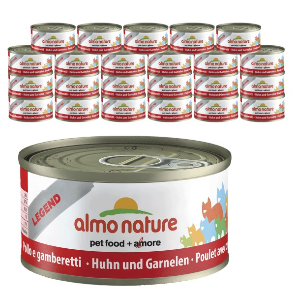 Almo Nature Legend Katzenfutter 24x70gHuhn & Garnelen