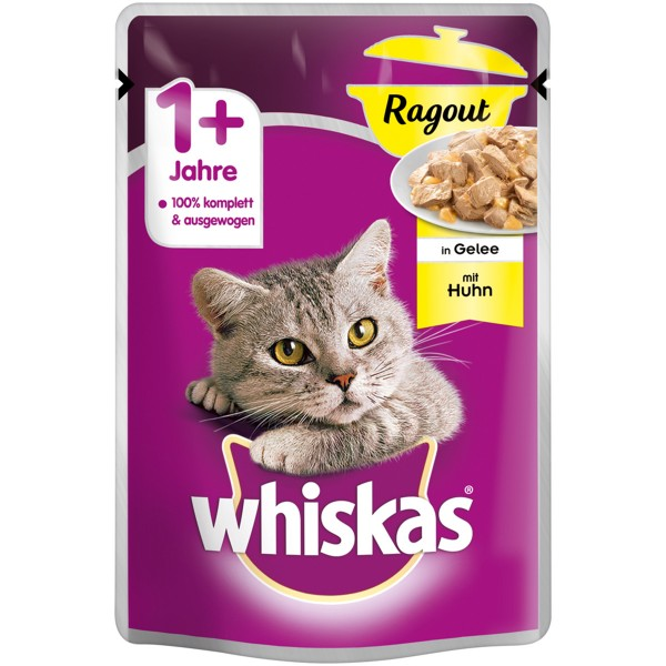 Whiskas Adult 1+ Ragout mit Huhn in Gelee