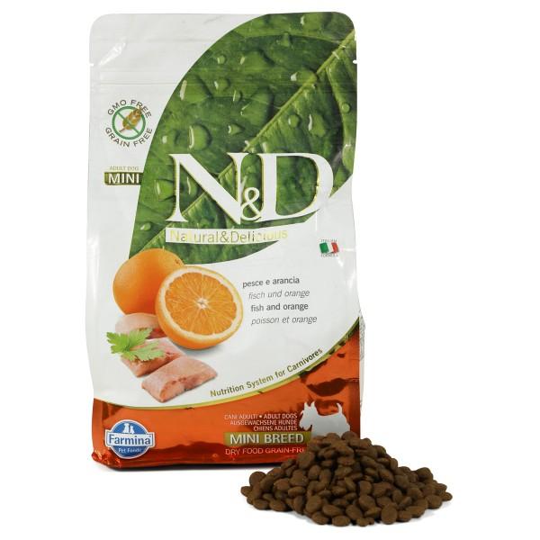 N&D Hundefutter Fisch&Orange Adult Mini getreidefrei 800g