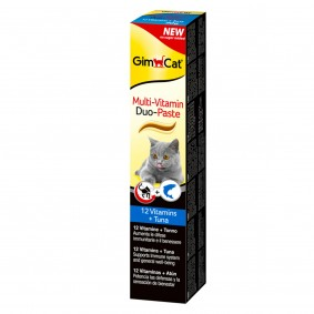 GimCat Multi-Vitamin Duo Paste Thunfisch + 12 Vitamine 50g