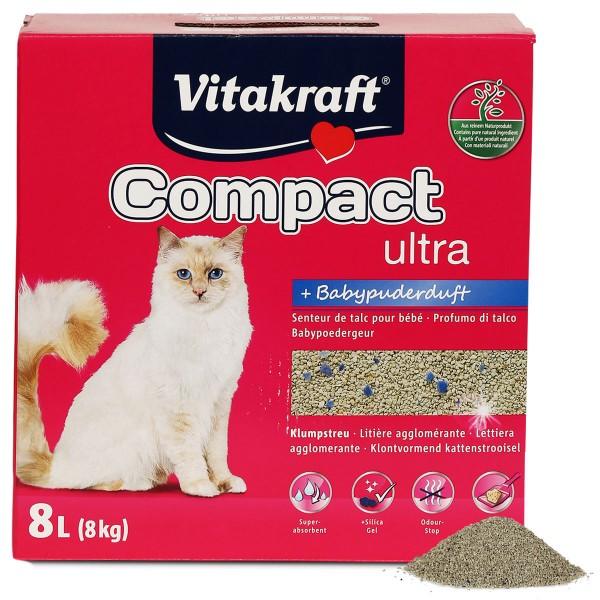 Vitakraft Katzenstreu Compact ultra Babypuderduft 8kg