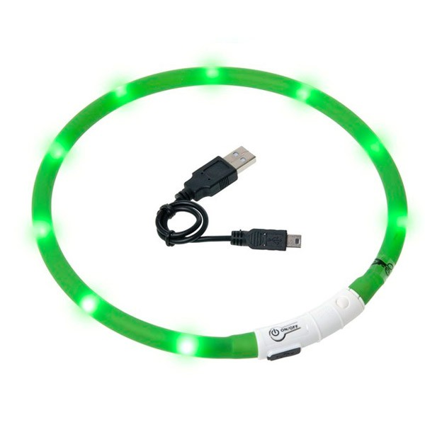 Karlie Visio Light LED Leuchthalsband - Grün