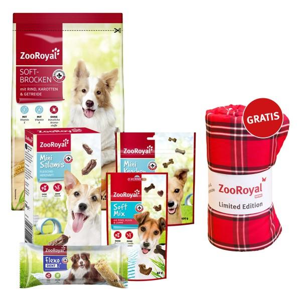 ZooRoyal Trockenfutter plus Snack Probierpaket + Picknickdecke gratis