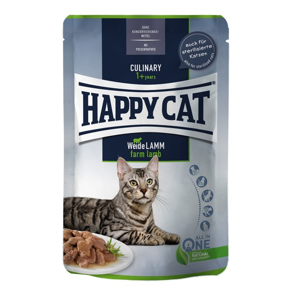 Happy Cat Tray Culinary Meat in Sauce Weide Lamm