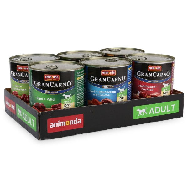 Animonda Hundefutter GranCarno Mixpaket 2 6x800g