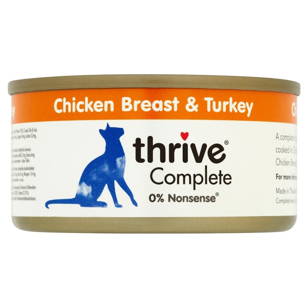 thrive Cat Complete Hühnerbrust & Truthahn 12x75g