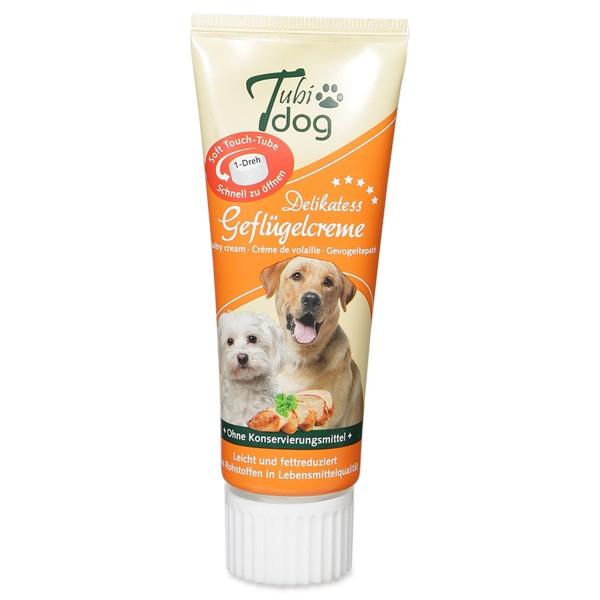 Hansepet Tubidog Hundesnack Geflügelcreme