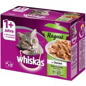 Whiskas Ragout Adult 1+ Gemischte Auswahl in Gelee