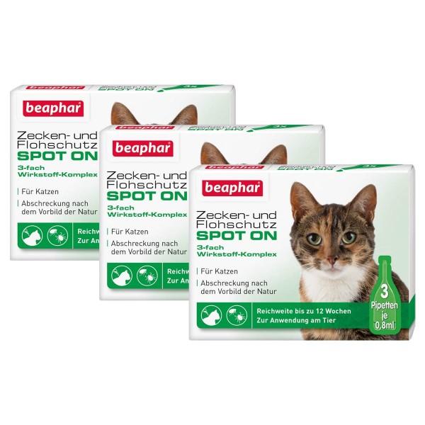 beaphar Zecken- & Flohschutz SPOT-ON für Katzen 3er-Pack
