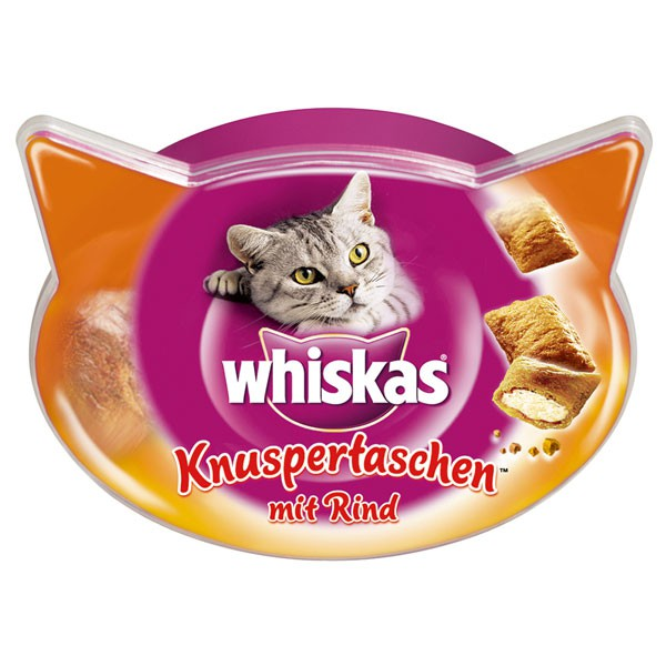 Whiskas Knuspertaschen mit Rind 60g