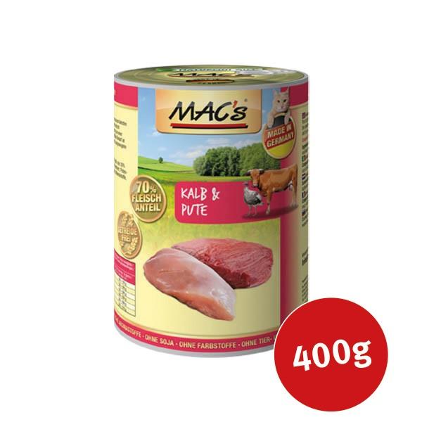 MAC's Cat Katzen Nassfutter Fleischmenü Kalb & Pute