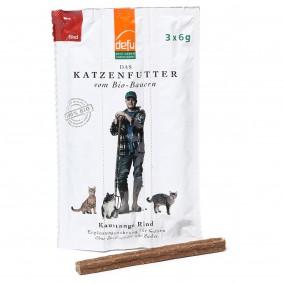 Defu Katzensnack Bio Kaustange Rind 18g (3x6g)