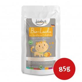Katzy's Nassfutter Bio Lachs mit Spirulina und Kokosflocken