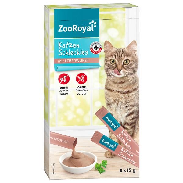 ZooRoyal Katzenschleckies Leberwurst 8x15g