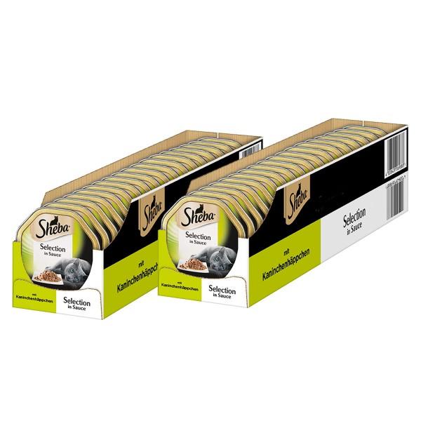 Sheba Katzenfutter Selection in Sauce Kaninchenhäppchen 36+8 x85g gratis