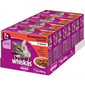 Whiskas Senior 7+ Klassische Auswahl in Gelee 48x100g
