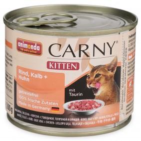 Animonda Katzen-Nassfutter Carny Kitten mit Kalb und Huhn