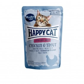 Happy Cat kapsičky – All Meat Sterilised kuře a pstruh