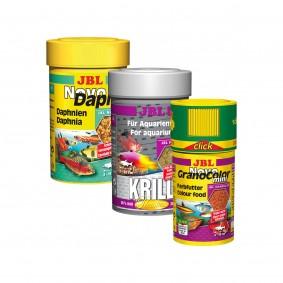 JBL Probierpaket Fischfutter Krill + GranoColor + NovoDaph 100ml