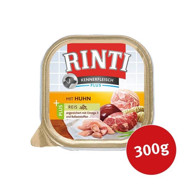 Rinti Nassfutter Kennerfleisch Alu Schale mit Huhn