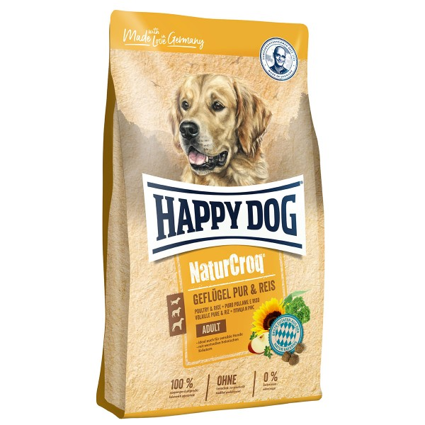Happy Dog NaturCroq Geflügel pur & Reis