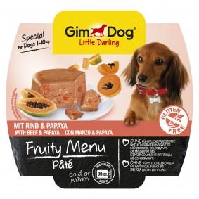 GimDog Fruity Menu Pâté mit Rind & Papaya