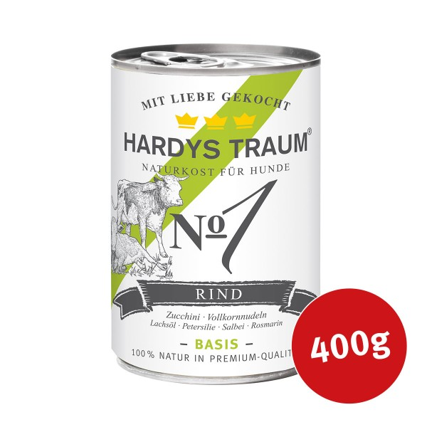Hardys Traum Hundefutter Basis No. 1 Rind - 400g