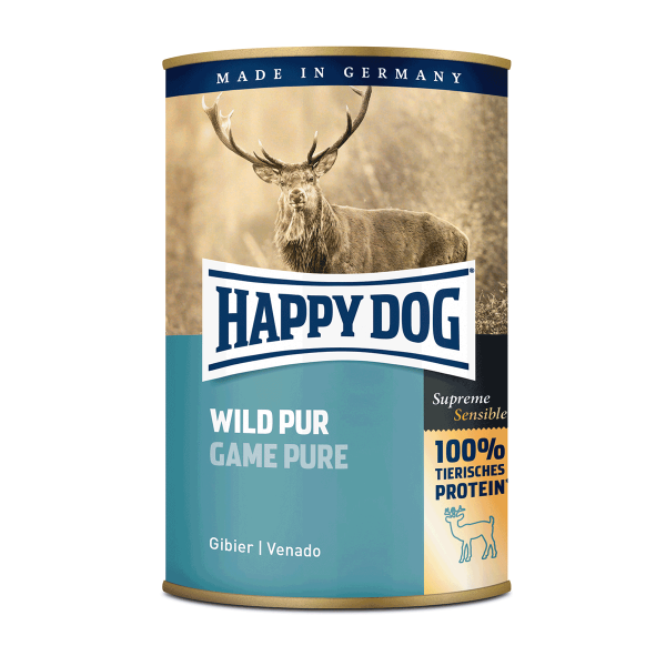 Happy Dog Hundefutter Wild Pur 24x400g